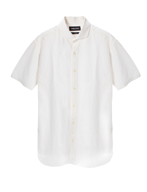 cotton linen ox s/s shirt