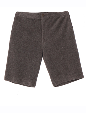 cotton pile shorts