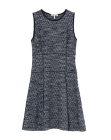 tweed knit fit&flare dress