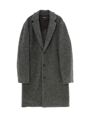 threedots(スリードッツ)のairly compress wool coat(スライバーニット チェスターコート)