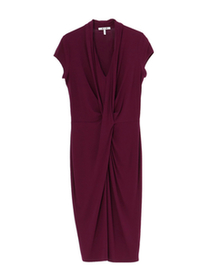 classic jersey draped dress