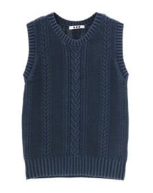 denim taste cable tank top