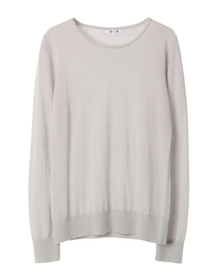 superfine cashmere l/s crew neck