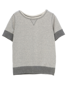 cotton terry s/s crew neck