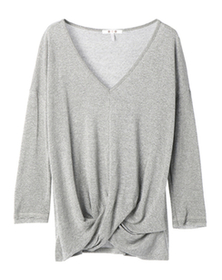 sparkle sweater twisted knot top