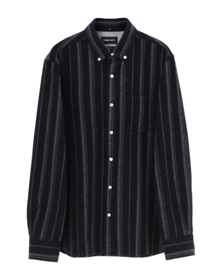 flannel stripe l/s shirt