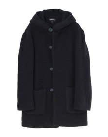 low gauge rib jersey coat