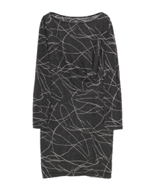 squiggle burnout pleated dress