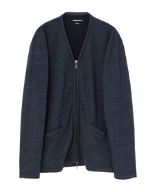 Men's streaky fleece v cardigan