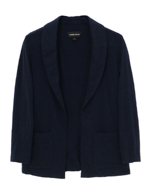 threedots(スリードッツ)のlt slub 3/4 slv jacket(ライト スラブ ジャケット 七分袖)