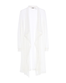 sheer jersey drape front cardy