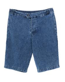 denim sweat shorts