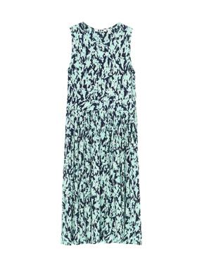 threedots(スリードッツ)のmint leaf print sleeveless dress(ミントリーフ プリント スリーブレス ドレス)