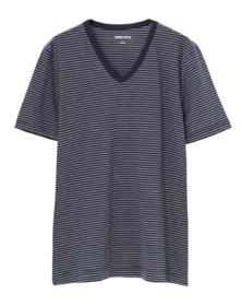 striped sanded jersey v