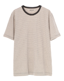 striped sanded jersey crew