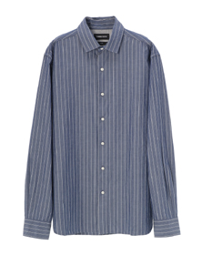 cotton stripe l/s short