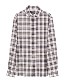 double plaid l/s fly shirt