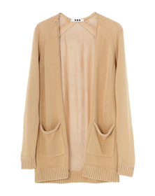 rayon combi l/s open cardigan