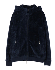 micro fur zip up hoody