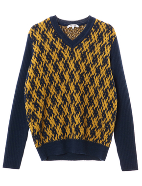 threedots(スリードッツ)のbasket wave knit l/s v neck po(バスケットウィーブ Vネックニット)