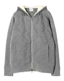 knit down zip up hoody