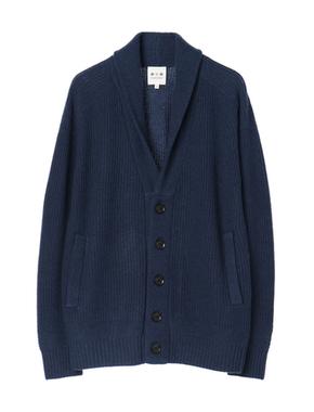 threedots(スリードッツ)のyak 7G shawl cardigan(ヤク ショールカラーカーディガン)