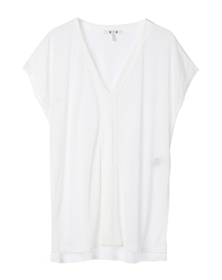 tencel high low tunic