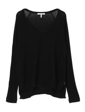 threedots(スリードッツ)のbrushed sweater v-neck top(ブラッシュドセーター Vネックトップ)