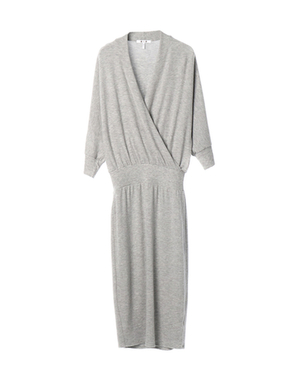 threedots(スリードッツ)のbrushed sweater wrap dress(ブラッシュドセーター ラップドレス)