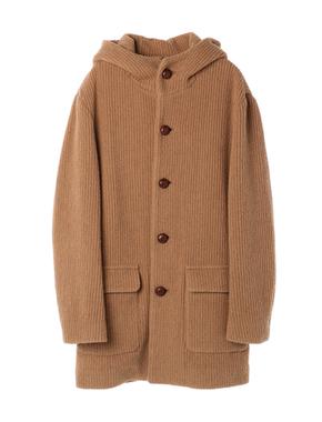 threedots(スリードッツ)のrib jersey hooded coat(リブジャージー フーデッドコート)