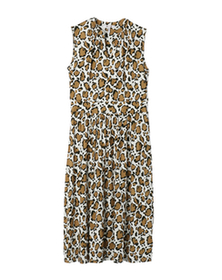abstract leopard print dress