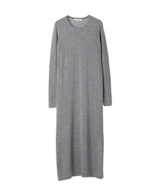 merino superfine l/s midi dress