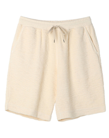 boucle terry shorts
