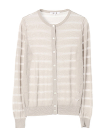 sheer stripe l/s cardigan