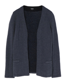 3-end french terry cardigan