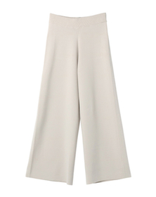 knit bottoms wide pant